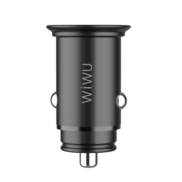 WiWU PC201 Dual USB QC4.0 Quick Charge Zinc Alloy USB-C 5A Car charger