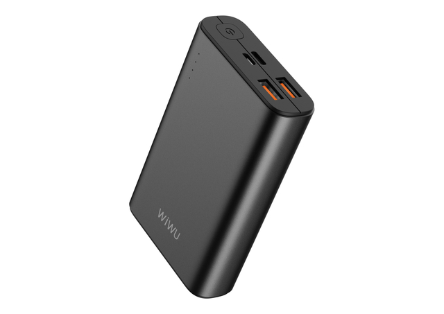 WiWU JC-05 Ultra Slim Dual 3A Fast Charge Power Bank 10000mAh Portable USB-C 3.0 Power Source for Mobile